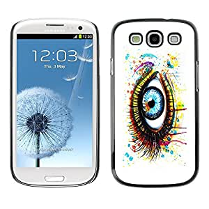 TECHCASE**Cubierta de la caja de protección la piel dura para el ** Samsung Galaxy S3 I9300 ** Painted Eye