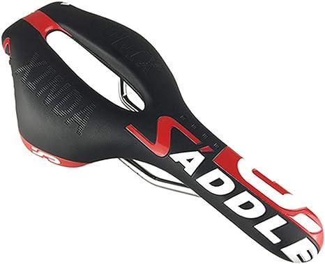 O-Mirechros MTB Silla de Montar Bicicleta Bicicleta de Carreras de Silla diseño Hueco del Camino MTB cojín de Asiento Black: Amazon.es: Deportes y aire libre