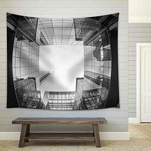 Uptown Charlotte North Carolina Cityscape Fish Eye View Fabric Wall