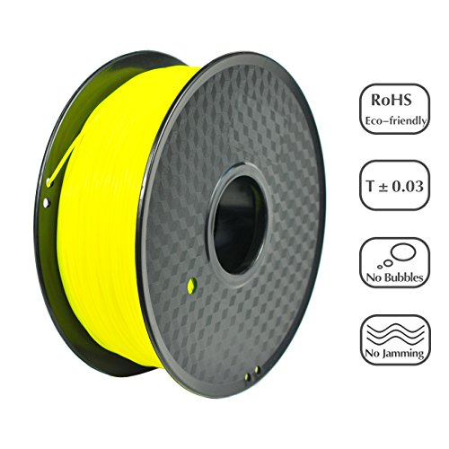 0.03% Solution (PRILINE PLA-1KG 1.75 3D Printer Filament, Dimensional Accuracy +/- 0.03 mm, 1kg Spool, 1.75 mm, Yellow (Pantone Code:394C))