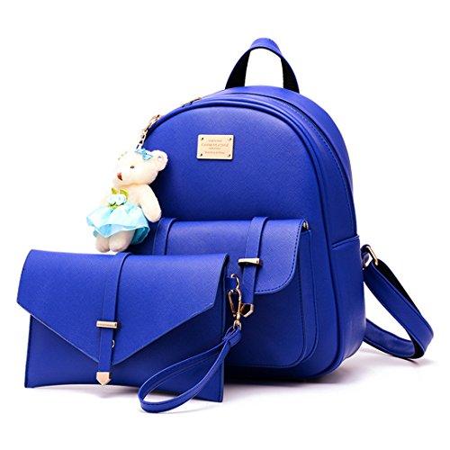 13 L de x Mujeres H Hombro W las del 31 de de Wewod Recorrido Mochila Moda 2 de cm 25 azul Conjunto PU x Bolsa del la Cuero Bolso Escuela Estudiante px0Bn4qw