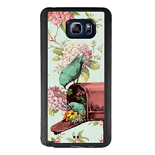 Samsung Galaxy Note 5 Phone Case, Birds Mailbox Black Anti-Scratch Lithe Shockproof Rubber Bumper Protective Case for Samsung Galaxy Note 5