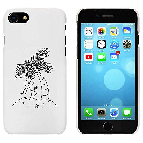 Weiß 'Maus auf einer Insel' Hülle für iPhone 7 (MC00058256)