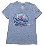Washington Nationals Girls Youth Grey Tri-Blend Distressed Wordmark T-Shirt