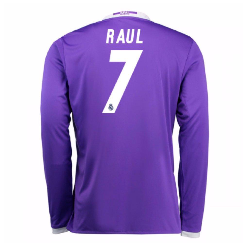 2016-17 Real Madrid Away Shirt (Raul 7) Kids B078561JNKPurple Medium Boys 28-30\