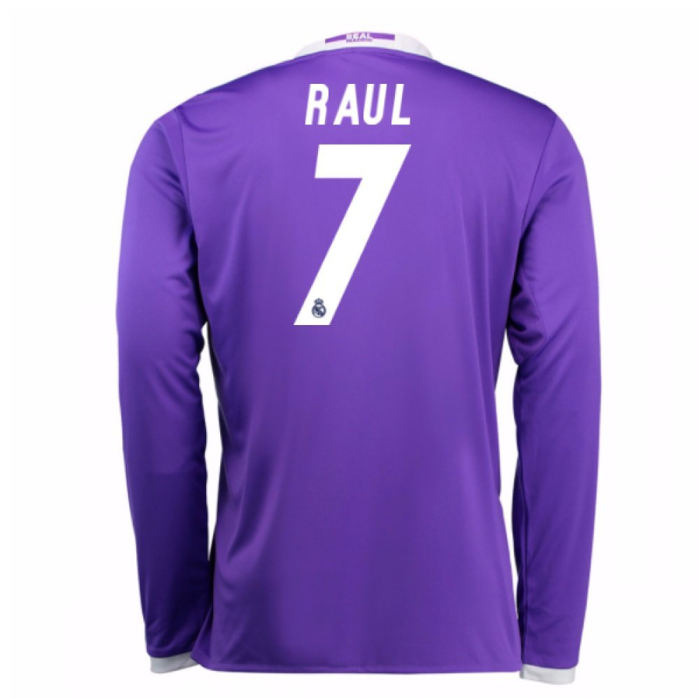2016-17 Real Madrid Away Football Soccer T-Shirt Trikot (Raul 7) - Kids