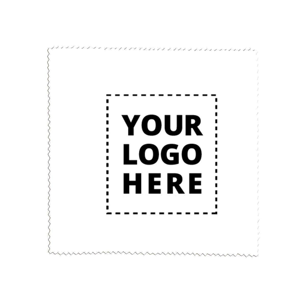 Microfiber Cleaning Cloths - 6'' x 6'' - 250 Qty - 1.78 Each - Promotional Product Imprinted & Personalized Bulk with Your Custom Logo White