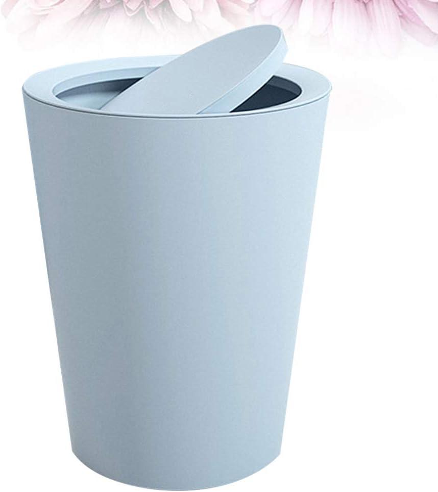 Garneck Bote de Basura con Tapa Bote de Basura Cubo de Basura Contenedor de Basura con Tapa para Cocina en Casa Sala de Estar