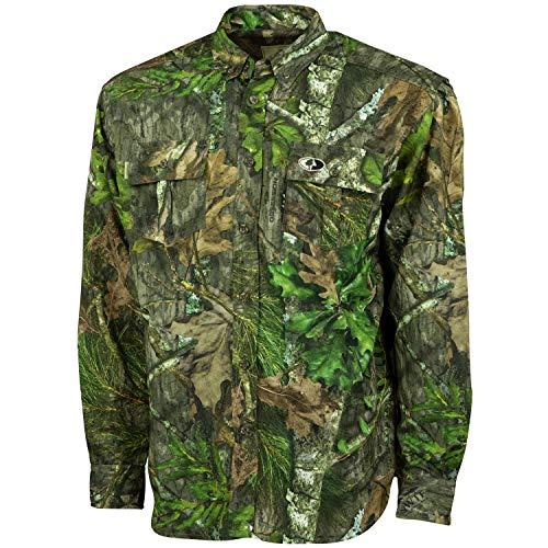 4437d4d9cd1f2 Mossy Oak Men's Tibbee Technical Lightweight Camo Hunting Shirt, Obsession,  X-Large