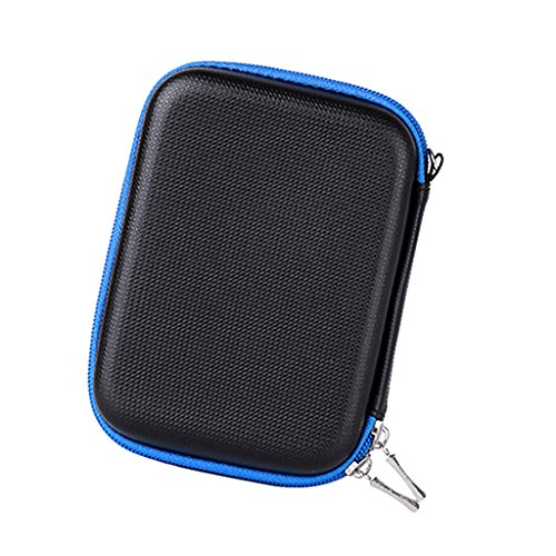 MagiDeal Electronics Organizer Travel Bag Accessories Cable Cord Gadget Zipper Storage Cases Black And Blue by MagiDeal