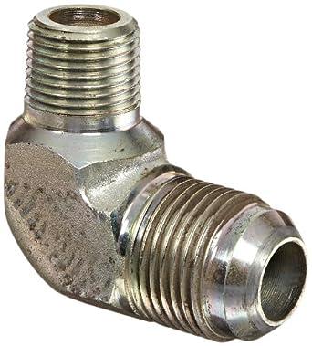 1//4 Tube OD Carbon Steel End Size 1//4 JIC m 3//8 Male Pipe Size x 3//8 NPT Eaton Aeroquip 2024-6-4S 90 Degree Male Elbow JIC 37 Degree /& NPT End Types m