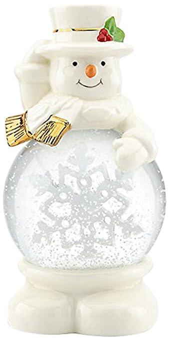 Lenox Let It Snow Snowman Snowglobe