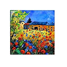 Poppy Garden Cabin Realism Oil Schools Of Impression Painting Ceramic Bisque Tiles for Decorating Bathroom Decor Kitchen Ceramic Tiles Wall Tiles