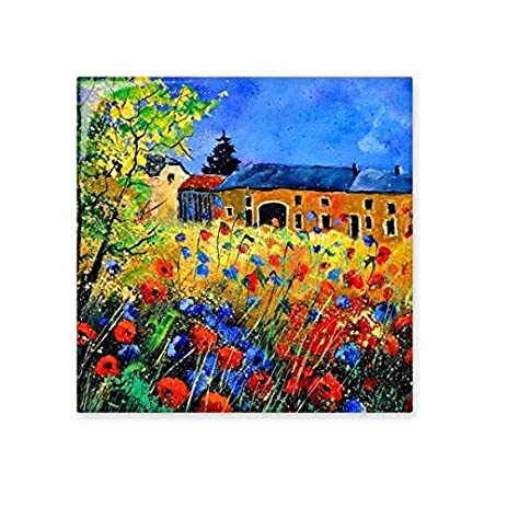 poppy garden cabin realism oil schools of impression painting