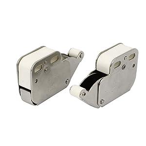 Hogar 48mm Largo empuje para abrir Un solo toque Armario Cierre De Puerta 2 piezas