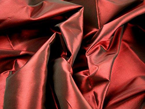 Plain Shot Taffeta Dress Fabric Wine - per metre