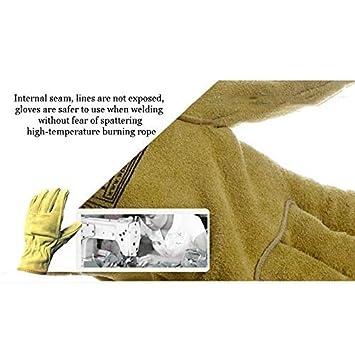 GOG Guantes de jardinería de cuero con protección contra pinchazos ...