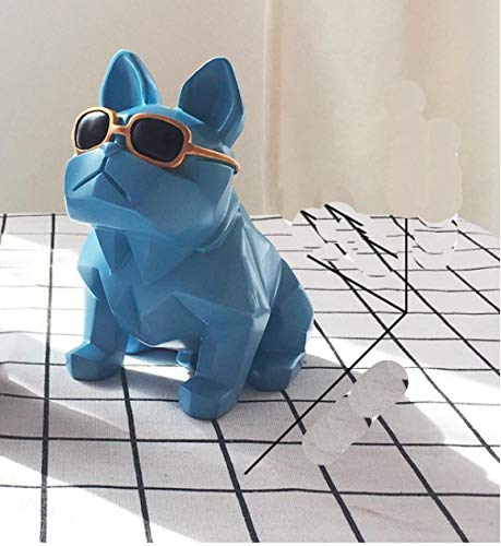 Miss.AJ Cute Bulldog Piggy Bank Puppy Coins Saving Money Box Home Desk Decor Ornament for ()