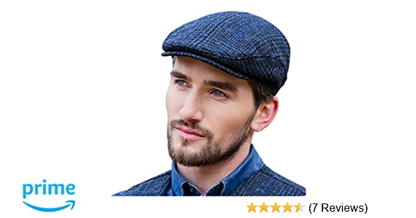 5a7e46a6a87e5 Mucros Weavers Police Tweed Flat Cap - Thin Blue Line at Amazon Men's  Clothing store: