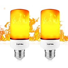 LightMe Fire Light Bulb, E27 Flame LED Light Bulbs, Lamps with Flickering Emulation Dynamic Moving for Bar Festival Party Christmas Decoration(2-Pack)