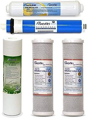 5pcs Ro Juego de filtros de repuesto, 5 Etapa 1 año purificador de ...