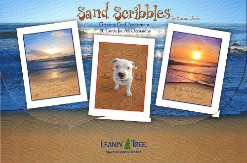 Sand Scribbles by Susan Davis - [AST90749] 20 Greeting Cards and 22 Envelopes by Leanin' Tree (Leanin Tree Boxed Cards)