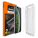 Spigen Tempered Glass Screen Protector [with Installation Kit] Designed for iPhone Xs Max (2 Pack)