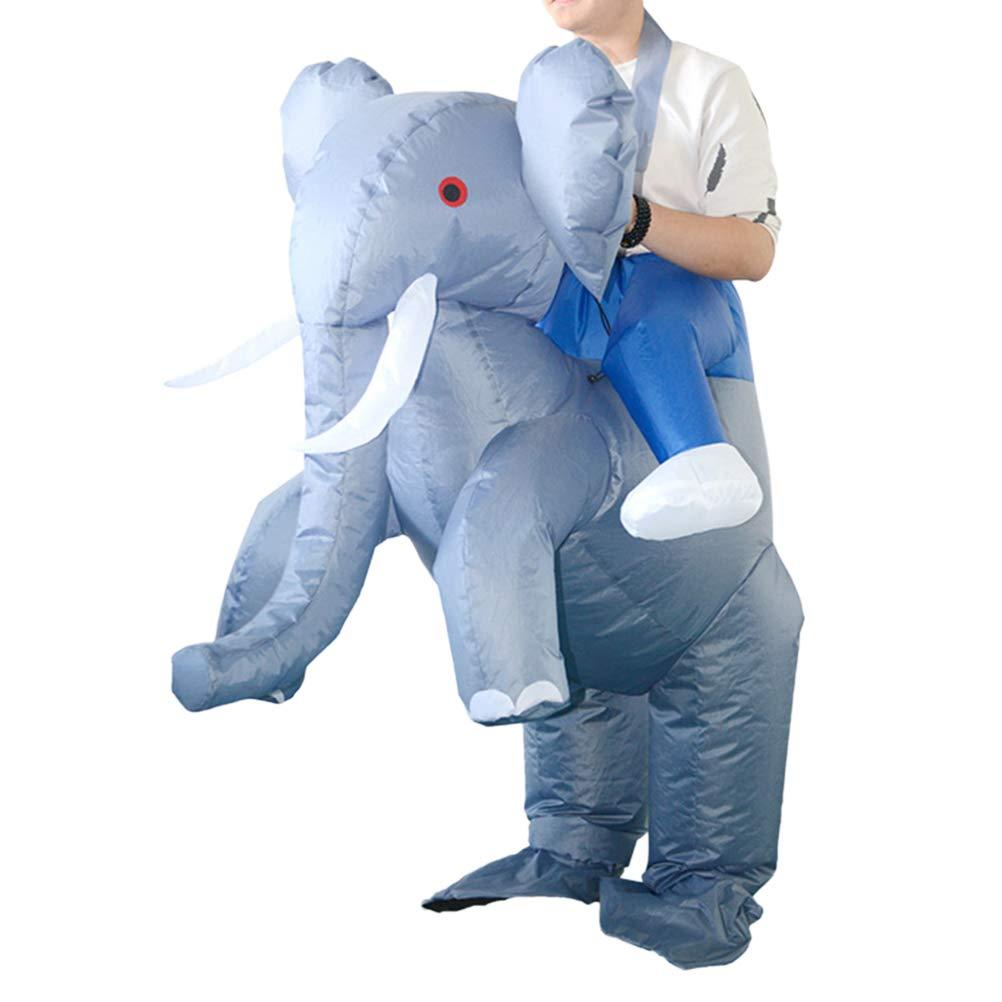 Toyvian Ropa Inflable para Adultos Traje de equitación de Navidad Disfraz de fantasía Disfraz de fantasía (batería no incluida)