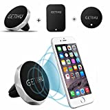 GETIHU Car Phone Mount Universal Air Vent Cell Phone Holder Magnetic Stand for iPhone 7 6 6S Plus 5s Samsung HTC SONY All Smartphones GPS Mobile Magnet Support