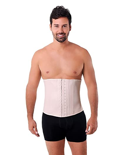 c0d6969d7b Image Unavailable. Image not available for. Color  Ann Michell 2 Hook  Classic Waist Trainer Girdle For Men ...