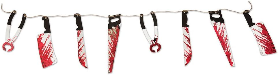 One Size Multi-Colour Bristol Novelty HI350 Bloody Weapon Garland