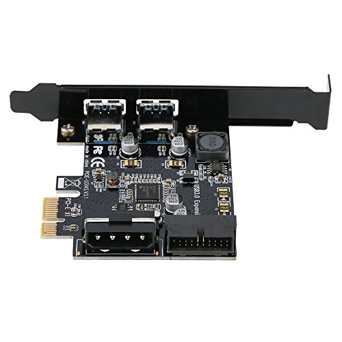 GXG-1987 PCI-E to USB 3.0 2-Port PCI Express Card Mini PCI-E USB 3.0 Hub Controller Adapter with Internal USB 3.0 19-Pin Connector and 5V 4 Pin Male Power Dual Port Connector by GXG-1987 (Image #2)
