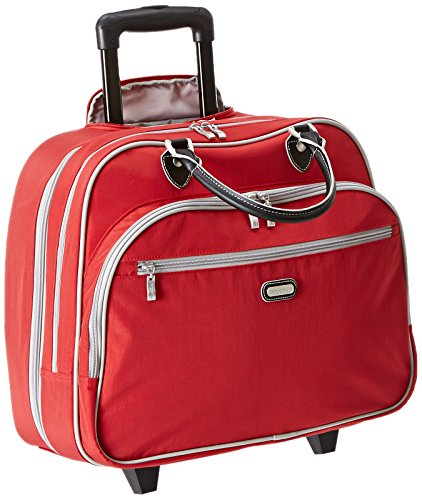 Baggallini Carryon Rolling Travel Tote, Apple, One Size by Baggallini