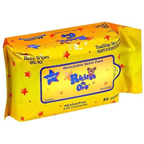 Ricitos De Oro Baby, Refill, Alcohol-Free with Chamomile - 80 Wipes(2 Pack)