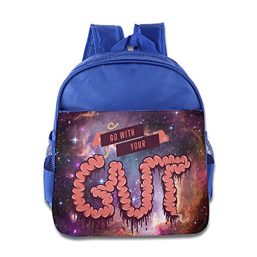 Go With Your Gut Kids Backpack School Bag For Boys/girls RoyalBlue (Nike School Rolling Backpacks)
