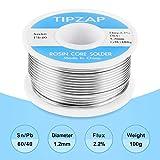 TIPZAP 60-40 Tin Lead Rosin Core Solder Wire for