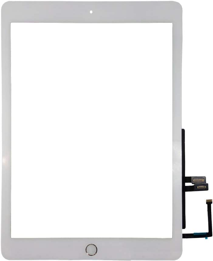 Touch Screen Digitizer + Home Button Replacement for iPad 6 (2018) A1893 A1954 (White)