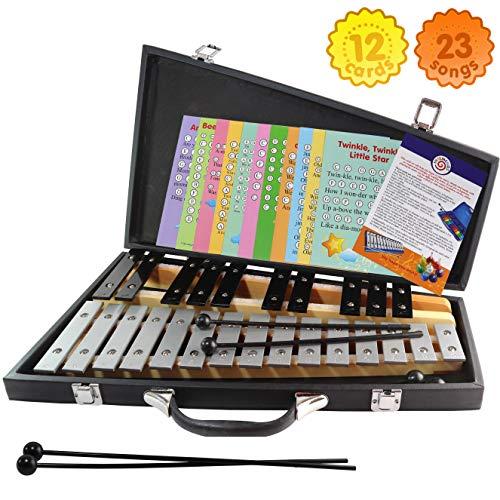 Glockenspiel 25 Notes - Carrying Bag -4 Mallets - Sheet Music -