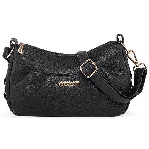 Katloo Crossbody Handbag Small Shoulder Bag for Women Vegan Leather Cross Body Purses Casual Black Nail Clipper by Katloo