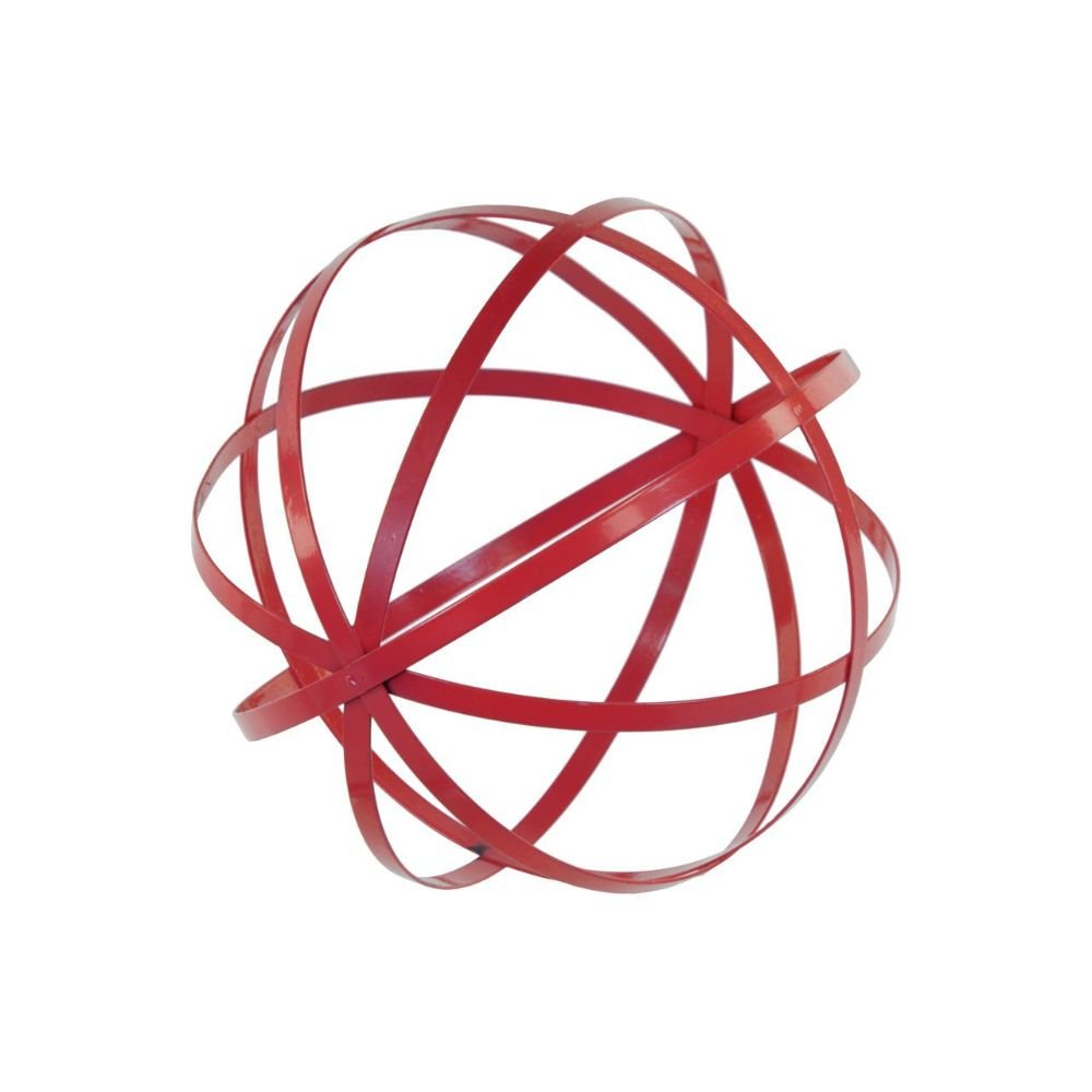 Large Red Metal Sphere Design Decor