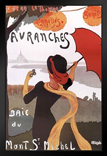 Albert Bergevin Avranches Baie du Mont St Michel Vintage Reproduction Travel Art Framed Poster 14x20 inch