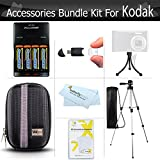 Essential Accessories Kit For Kodak FZ41, FZ43, EasyShare C1530 14 MP Digital Camera Includes 4AA High Capacity Rechargeable NIMH Batteries And Rapid Charger + USB 2.0 Card Reader + Deluxe Case + 50 Tripod w/Case + Screen Protectors + More