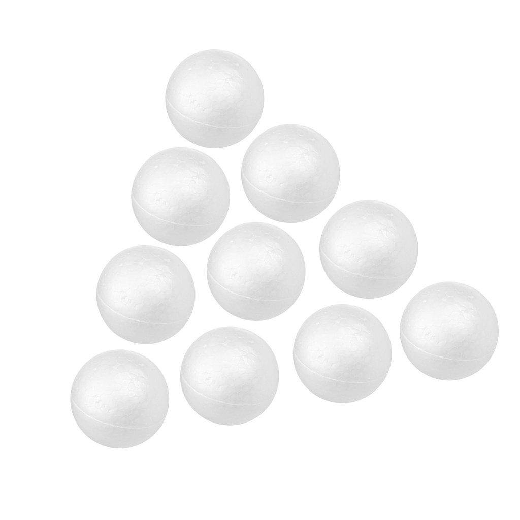 Homyl Lot 20pcs Boule Sph/ère Polystyr/ène D/écor No/ël Sapin 4cm 5cm