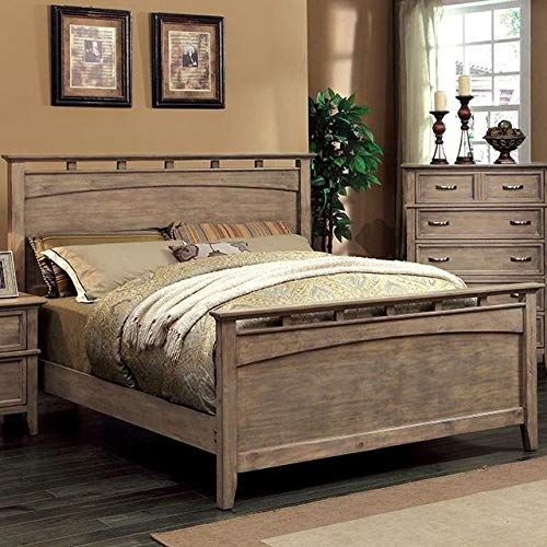 Loxley Oak Cal King Bed (Oversized) by Furniture of America
