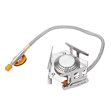 DGTRHTED Quemador de Gas - Mini Estufa Plegable del Metal de la Comida Que acampa Plegable del Quemador de Gas de la Comida campestre 3500W: Amazon.es: ...