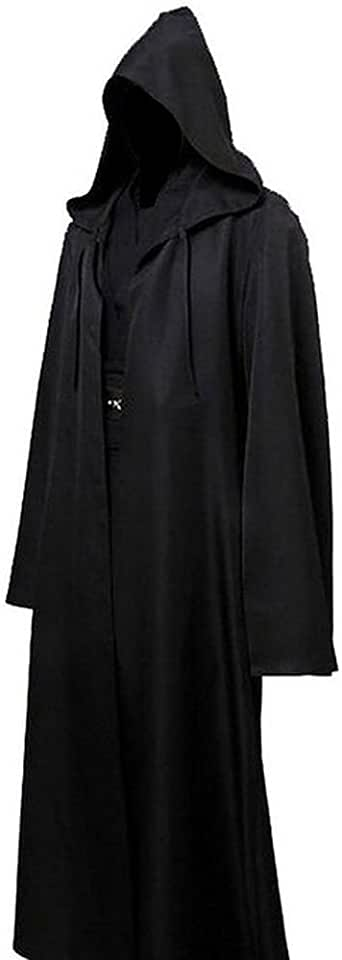 Weixinbuy Men Adult Hooded Robe Cloak Halloween Party Cosplay Fancy Costume Clothes