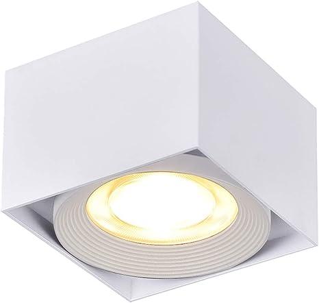 Plafoniera led esterno 10w lampada soffitto applique luce