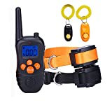 OMAIC Shock Collar for Dogs, Rechargeable Dog Training Collar with Remote 330 Yard, Adjustable Dog Collar with Shock /Beep /Vibrator Model for Dog Training-Small(15'') and Large Dog(25'').