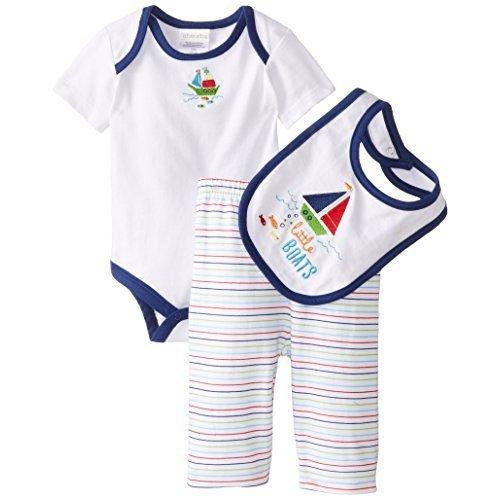 wborn Sailor Pant Set with Bib, Multi Color, 3-6 Months (Absorba Cotton Bib)