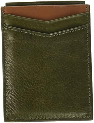 Fossil Men's Ethan Leather Rfid Blocking Magnetic Card Case Wallet